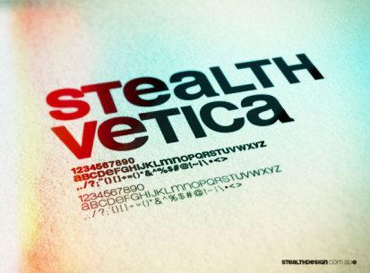 Stealthvetica Font